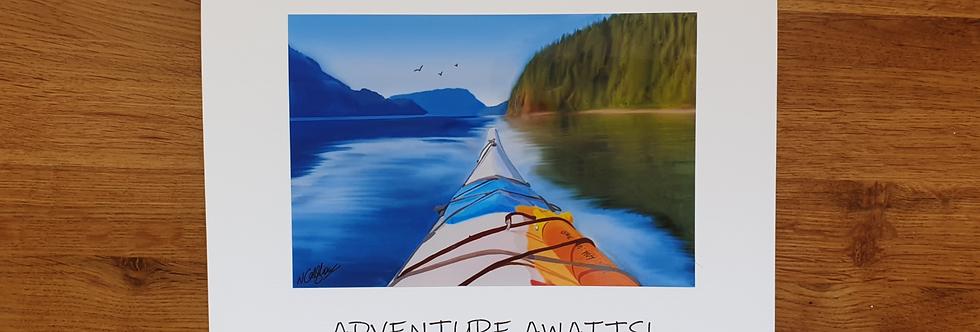 Kayak Greetings Card
