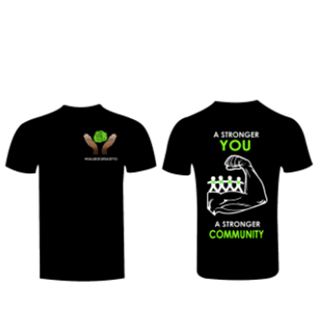 """AOPYO Value of Life """"A Stronger You, A Stronger Community"""" [Black and Green]"""