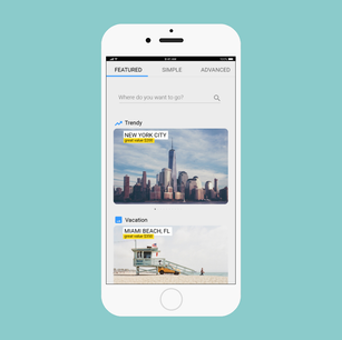 Flights booking service Tripify.me - mobile version
