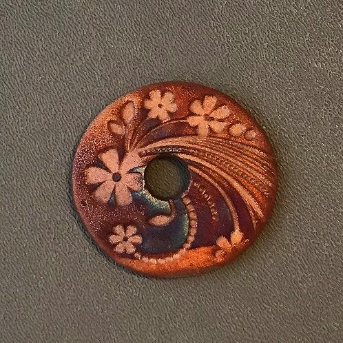Floral Coin Pendant 14