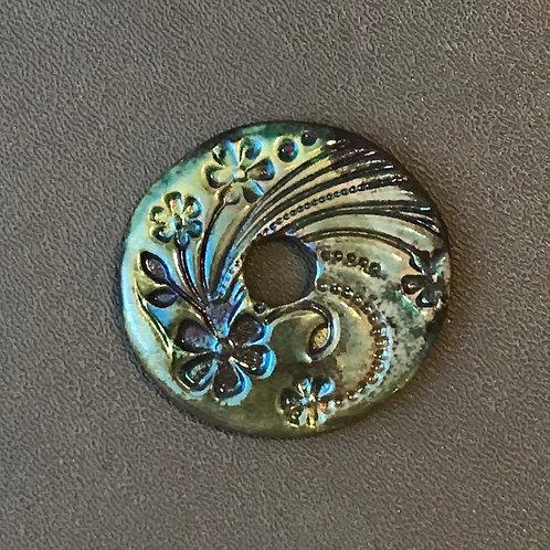 Floral Coin Pendant 10