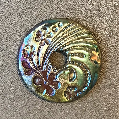 Floral Coin Pendant 4