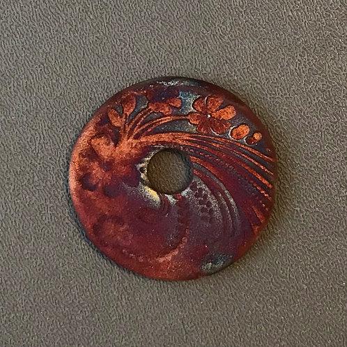 Floral Coin Pendant 16