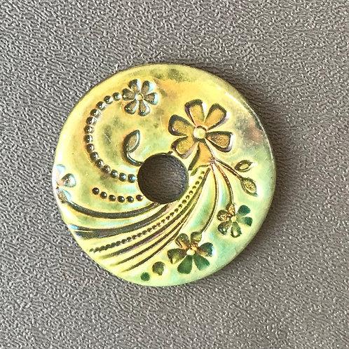 Floral Coin Pendant 1