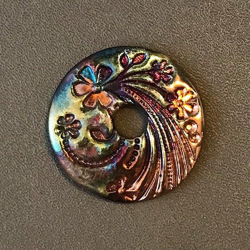 Floral Coin Pendant 5