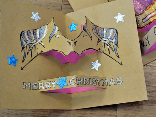 Christmas Horse Pop Up Card - DIY with Living Horses