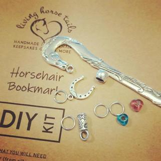 DIY horsehair braided bookmark