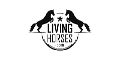 Living Horses Logo Black and White.png
