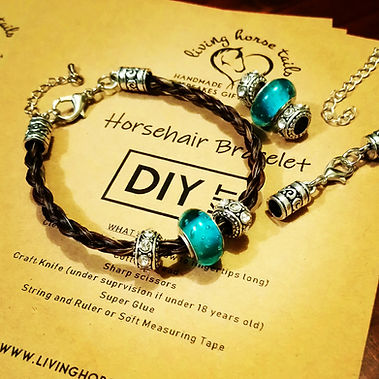 DIY horsehair braided bracelet kit with