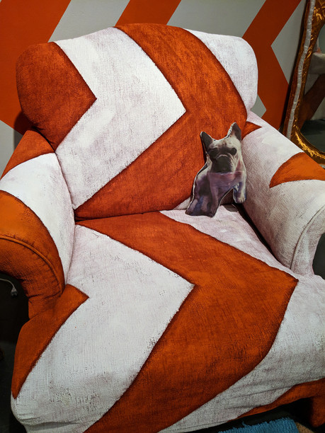 This Is How I See... chair and pet detail