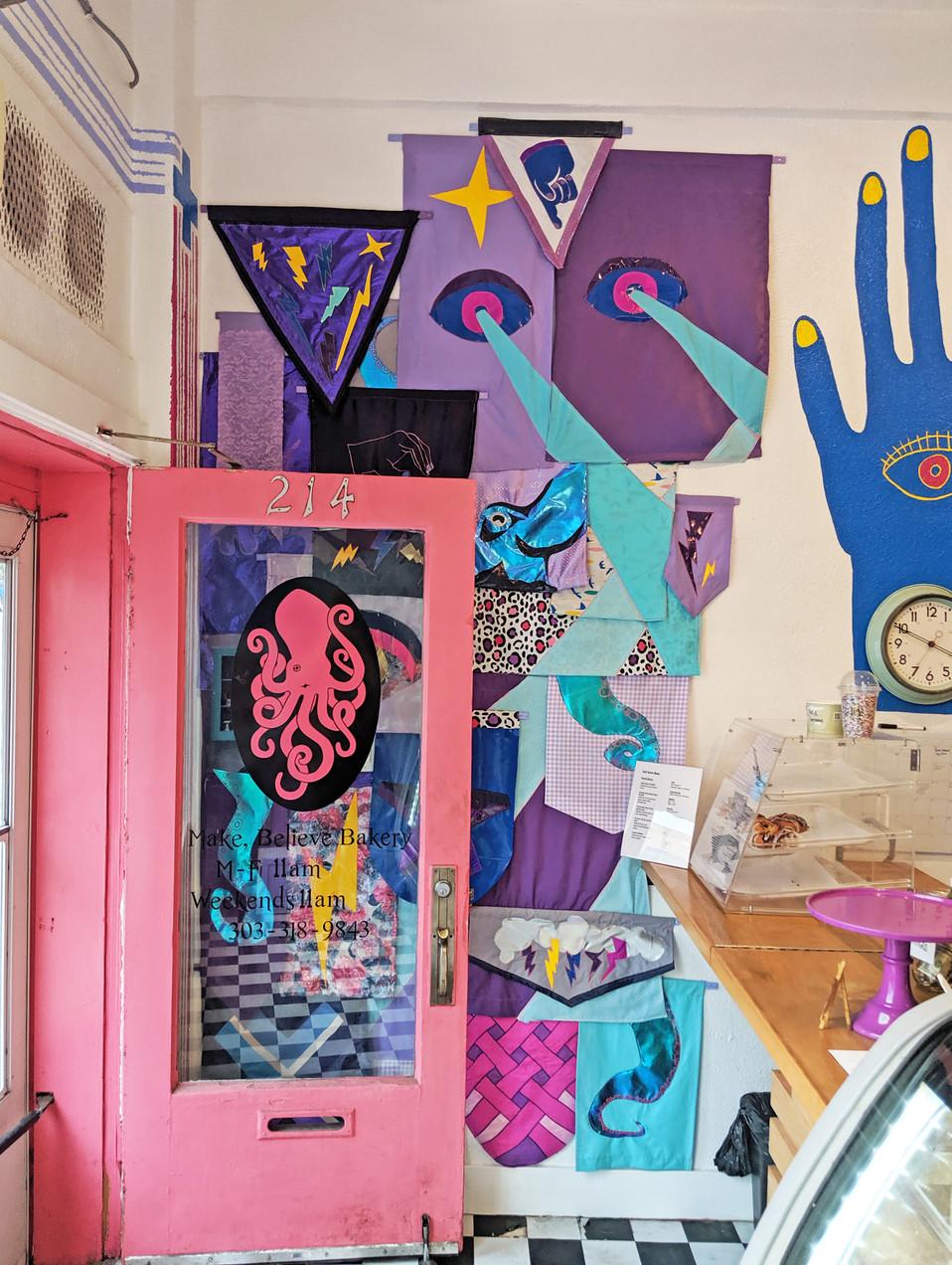 banner wall open door