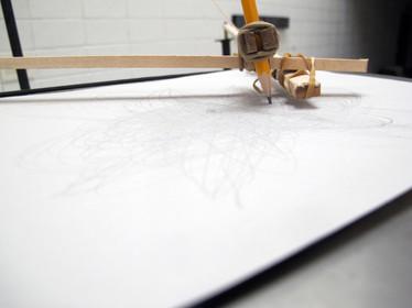 Pendulum Drawing Machine detail of drawing