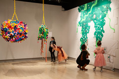 The Weeks Gallery install with viewers