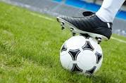 soccer ball and foot