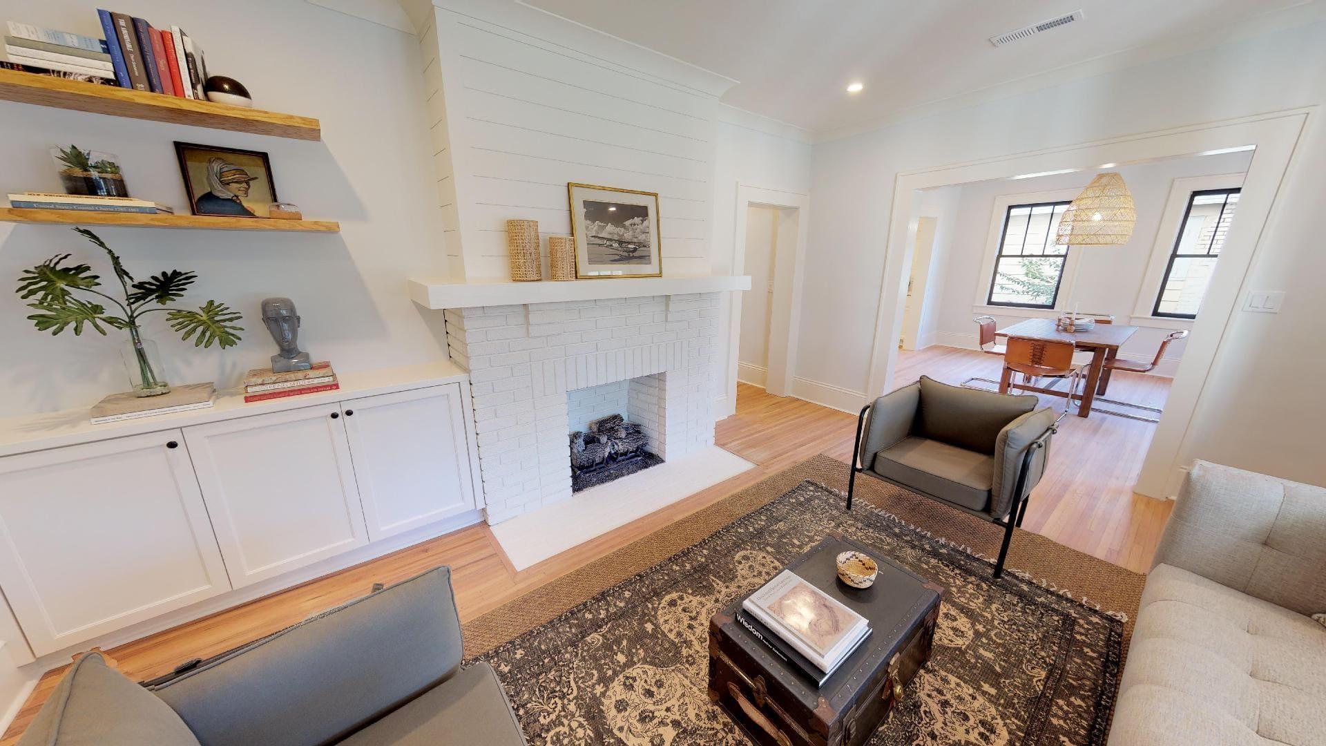 Plaza Midwood - Custom Living Room Storage