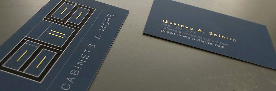 Gus Cabinets & More Business Card