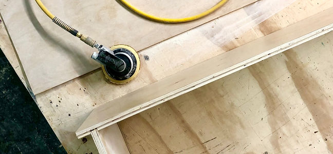 Sanding-Cabinet Making Process