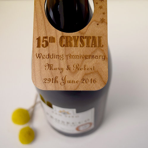 Wedding anniversary meaning card alternative wine bottle label