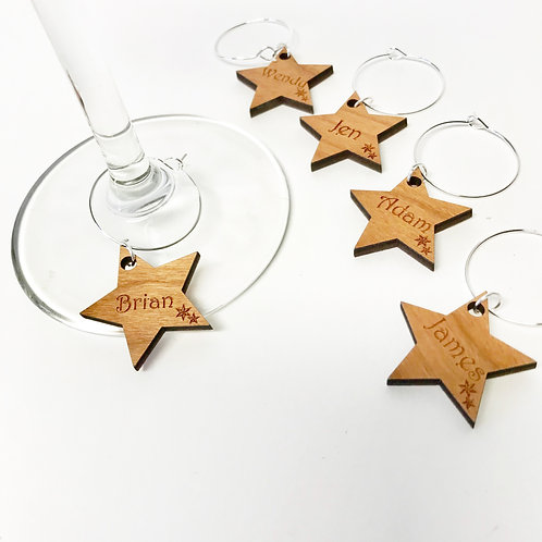 Personalised Christmas Wine Glass Charms