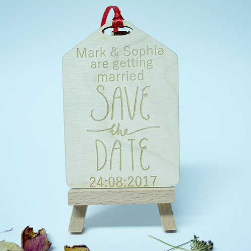 Personalised 'Save the Date' Gift Tag Invitation