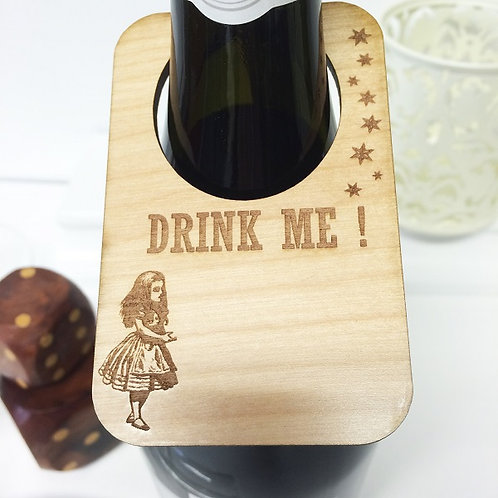 Alice in Wonderland themed Personalised Wine Bottle Label