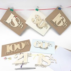 Personalised Number Birthday Card