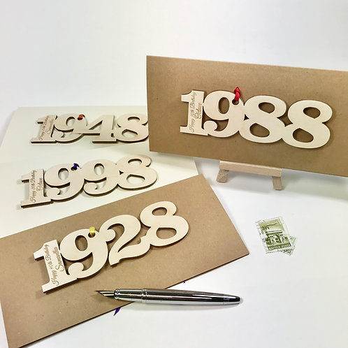 Personalised Your Year Birthday Cards