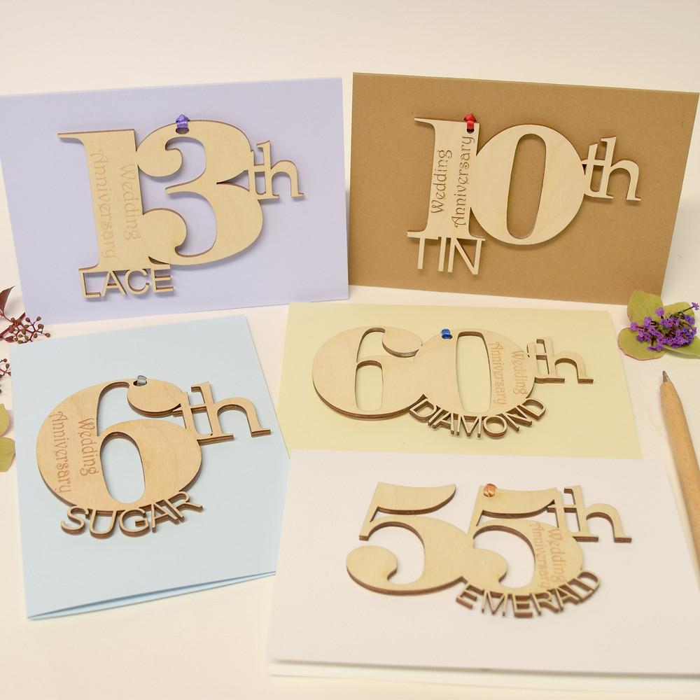 personalised wedding anniversary cards