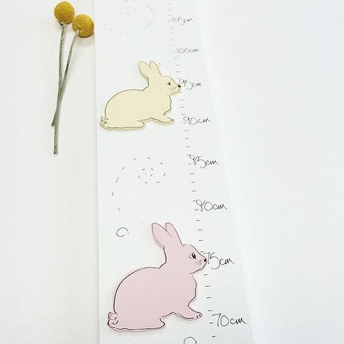 Personalised Bunny Rabbit Height Chart