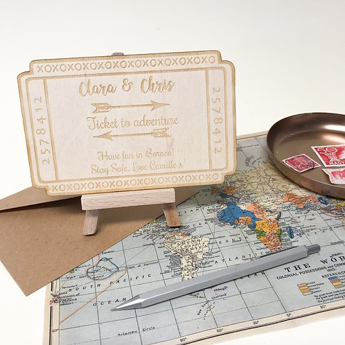 Personalised good luck travel card