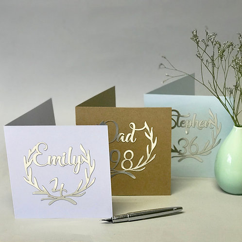 Personalised Paper Cut Birthday Cards