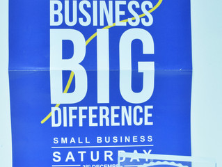 Small Business Saturday 3rd December