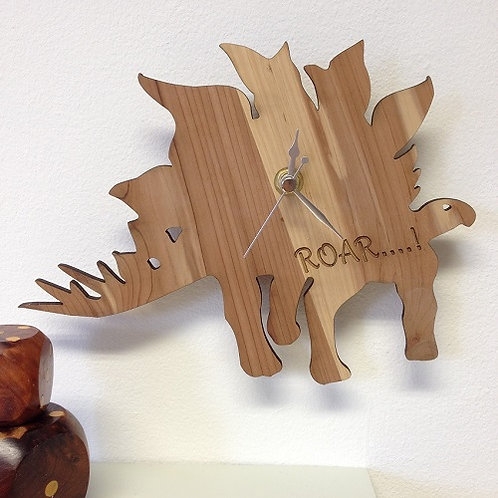 Personalised Wooden Dinosaur Clock