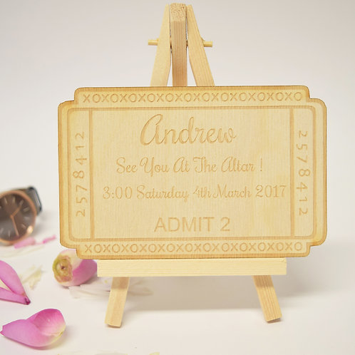 Personalised See you at the Altar Ticket Keepsake