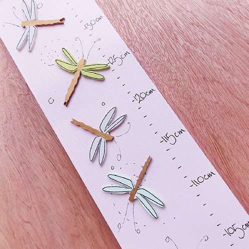 Personalised Dragonflies Height Chart
