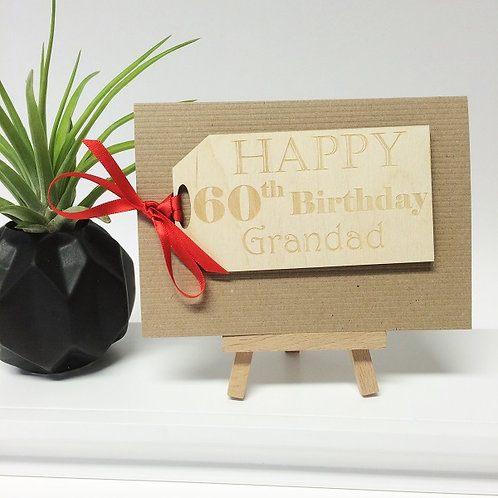 Personalised Birthday Gift Tag Card