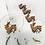 Engraved reindeer wine glass charms