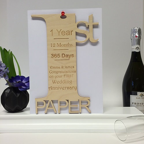Personalised Giant 1st Anniversary Meaning Card
