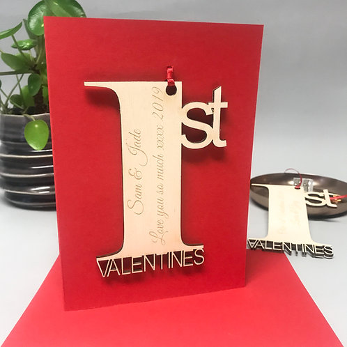 Personalised 1st Valentines Card