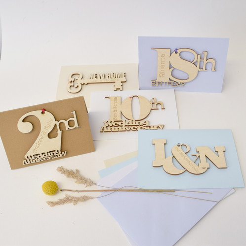 Unique And Stunning Personalised 18th Birthday Card Engraved With The Recipients Name Our Cards Are A Gift In Themselves Wooden Motif Is Attached To