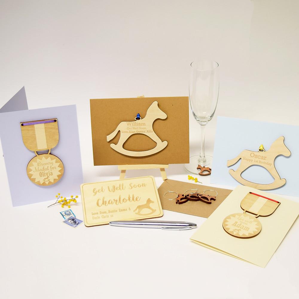 Hickory Dickory Designs range of keepsake cards for Rockinghorse children's charity