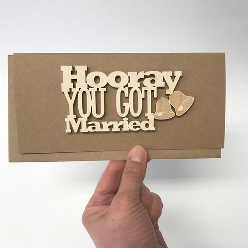 'Hooray You Got Married' Wedding Card