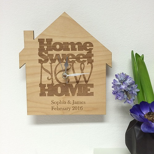 Personalised new home clock