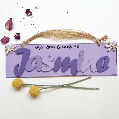Personalised Name Plaque (Purples)