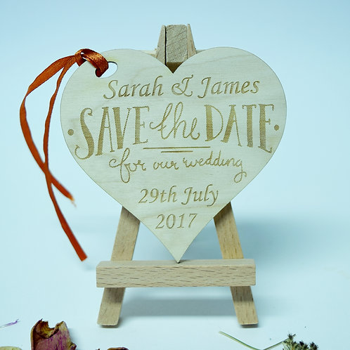 Personalised 'Save the Date' Heart Invitation