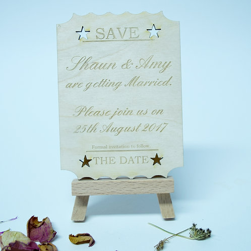 Personalised 'Save the Date' Ticket Invitation