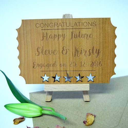 Personalised Engagement Wooden Keepsake