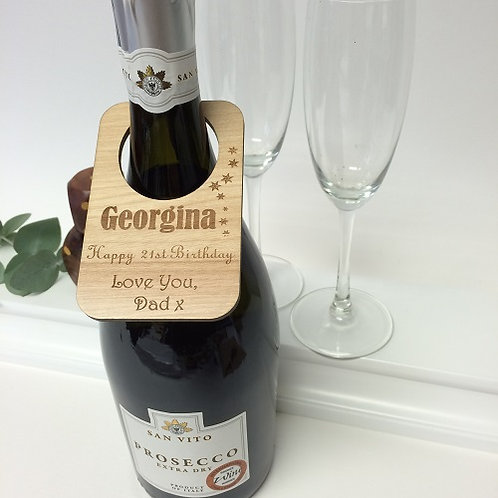 Personalised Wooden Bottle Labels