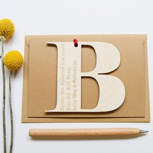 Initial Letter Congratulation Card
