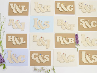 Wedding Season is Upon Us and Our Entwined Letter Wedding Card is a Hit!